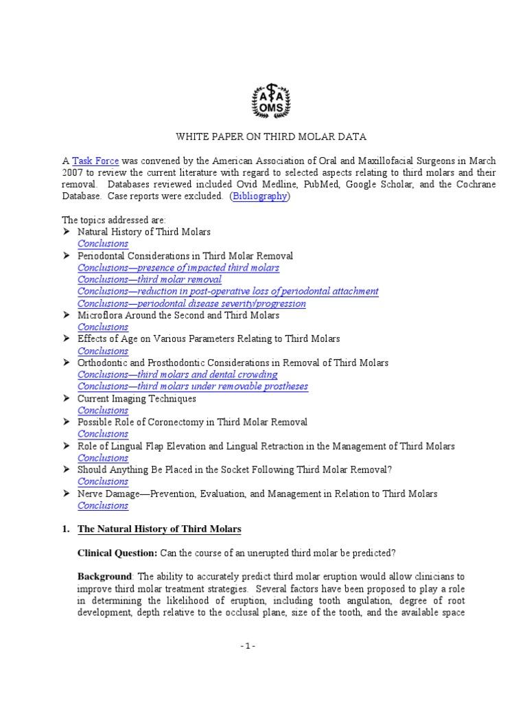 AAOMS White Paper